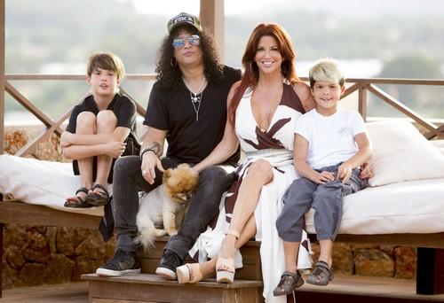 Slash And Family On Holiday In Ibiza