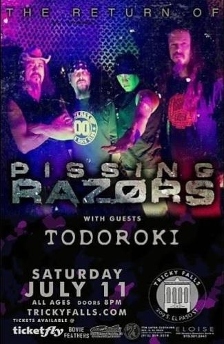 PISSING RAZORS tour