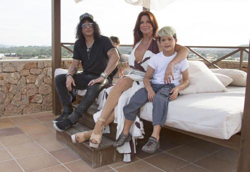 Slash And Family On Holiday In Ibiza