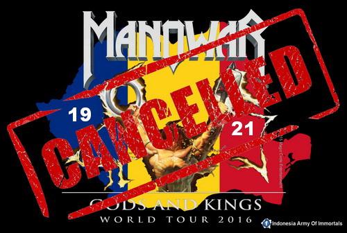 MANOWAR Cancelled Tour