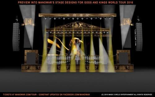 MANOWAR-Panggung Gods And Kings World Tour2016-2